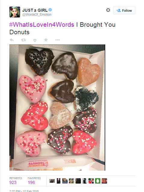 #WhatIsLoveIn4Words Donuts