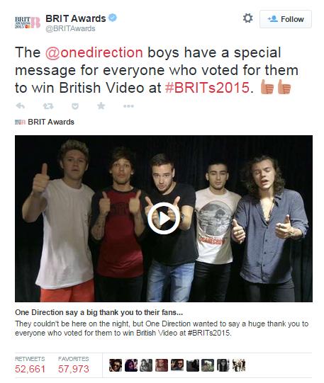 brits top tweet