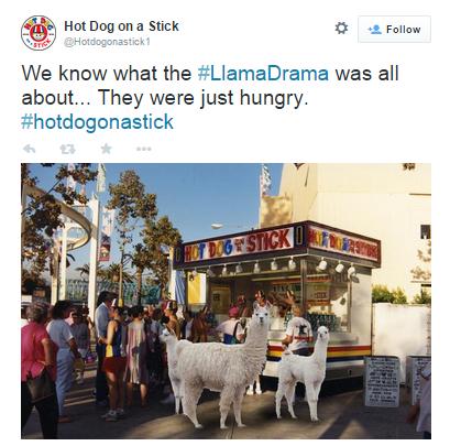 llama blog - hotdogs on a stick