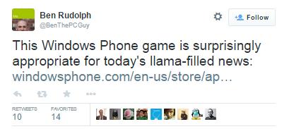 llama blog - windows phone app