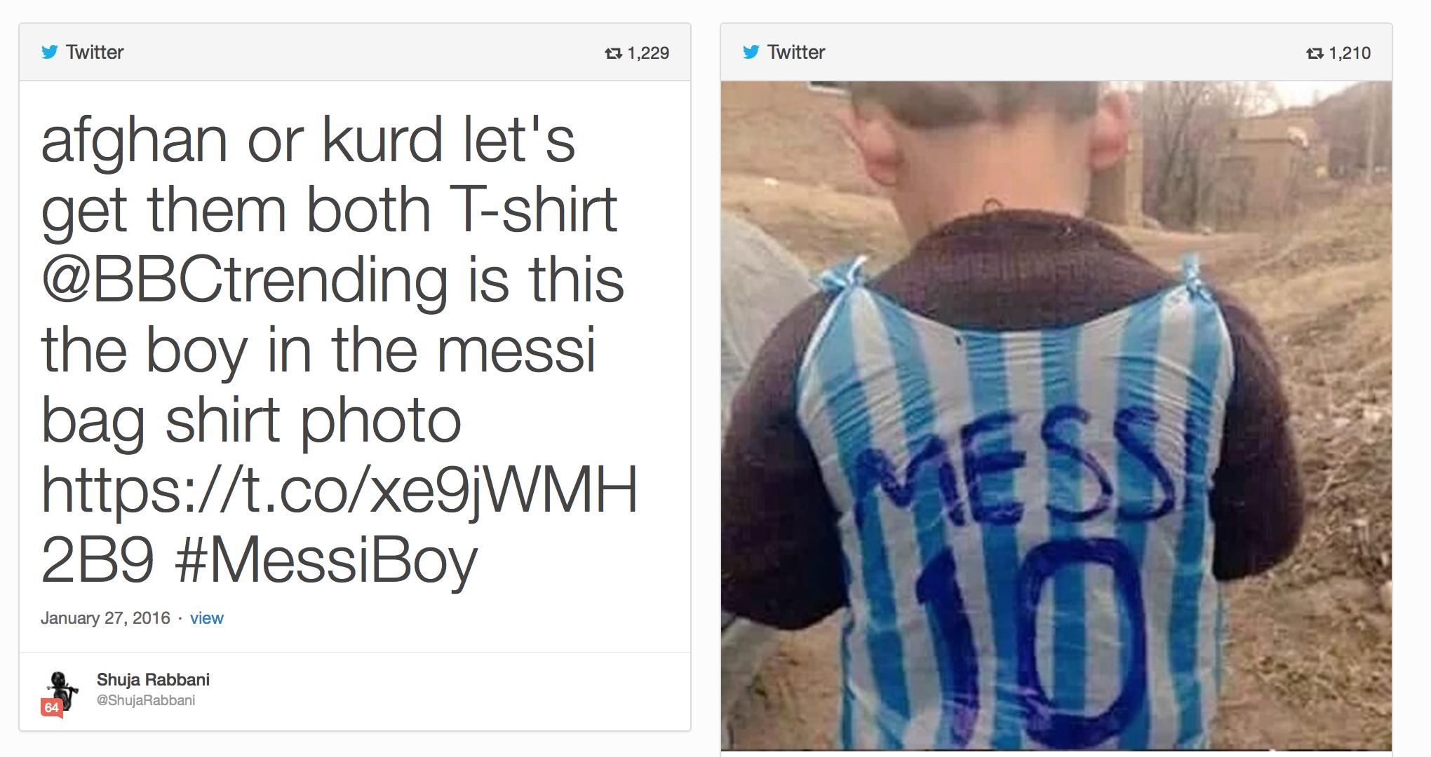 Messi's biggest fan tweet