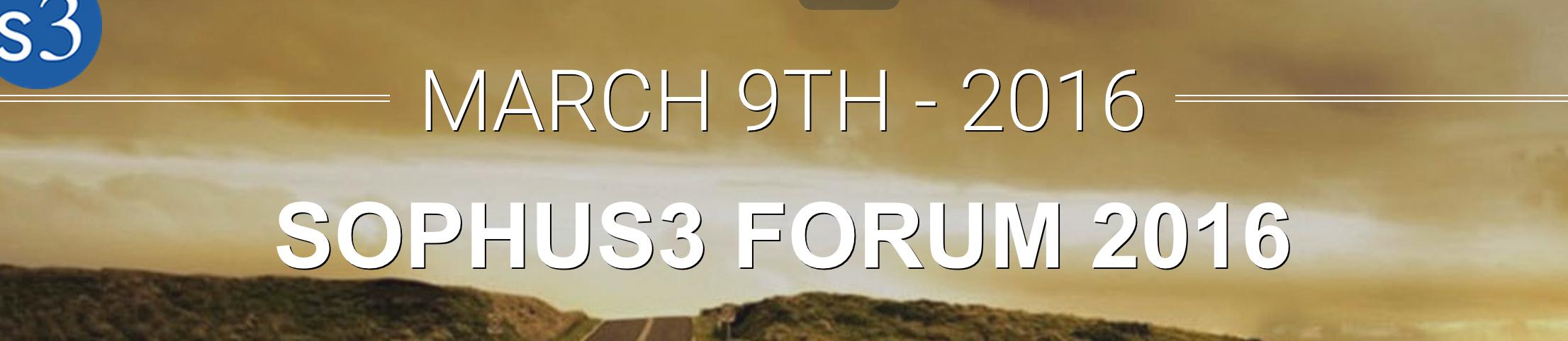 Sophus3 Forum