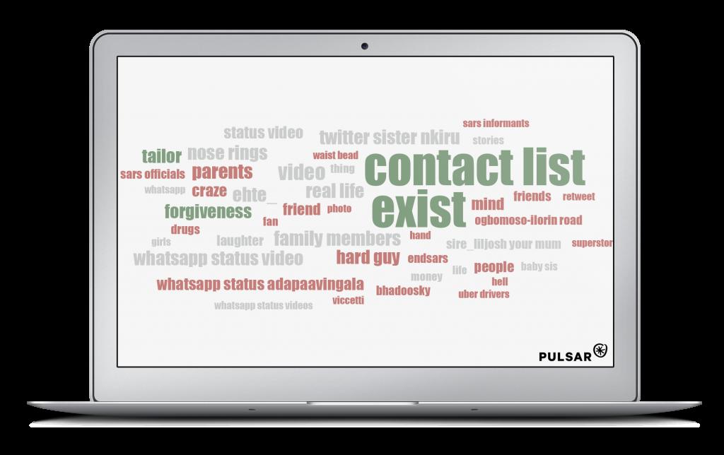 Stories wordcloud Pulsar TRAC