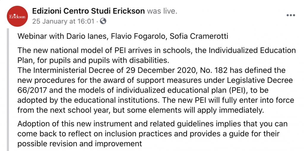 Italian Schools Webinar
